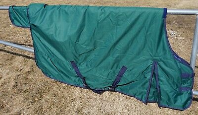 Size 74 Hunter Green Heavy Weight 600 Denier Ripstop 300G Fill Turnout Blanket