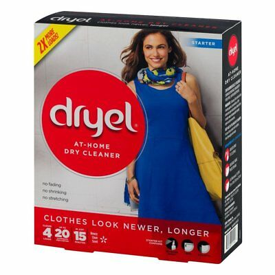 NEW - Dryel At - Home Dry Cleaner Starter Kit - 4 Loads - FREE SHIPPING
