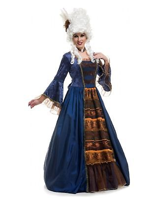 Women's Victorian Ball Gown Costume Dress Blue Colonial Washington Historical