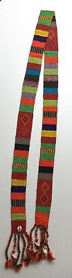 African Beaded Sash - Unknown Origin - 6 Feet Long by 2 Inches Wide
