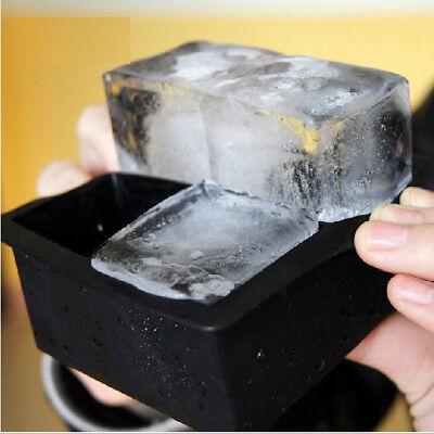 Silicone Ice Cube Tray Mold Maker Square Ice Block Mold for Whiskey Cocktail