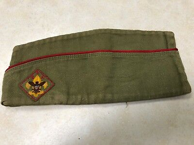 1950's Official Boy Scout Garrison Hat - Size Medium 6 3/4 - 6 7/8
