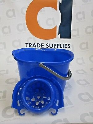 15L Blue Mop Bucket and Wringer *Free P&P*