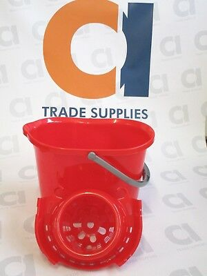 12L Mop Bucket and Wringer (red)