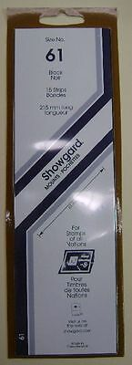 Showgard size 61 black hingeless stamp mount NEW unopened pack 1st quality 215mm