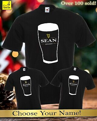 Personalised Guinness Ale T-Shirt Custom Dad Awesome Fathers Day Daddy T-Shirt