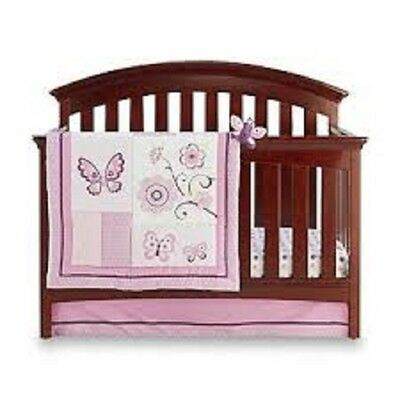 Little Bedding by NOJO Butterfly Blossoms  Girl 4-pc Crib Bedding Set W Bumper