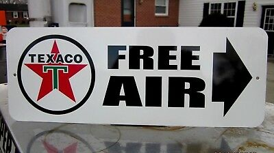 Texaco Free Air Sign Eco Meter Gasoline Service Station Gas Pump  Motor Oil