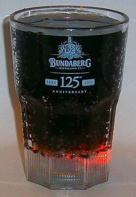 Bundaberg Bundy Rum new flashing Huzzah 125 anniversary drink cup for home bar