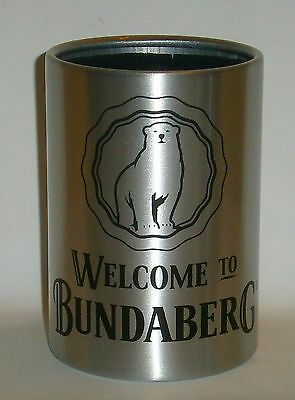 Bundaberg Bundy Rum Stainless Steel stubby can holder for home bar pub collector