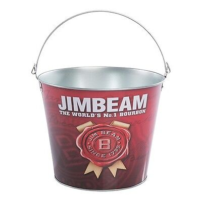 Jim Beam Bourbon new metal drink ice cube bucket for home bar brew or collector