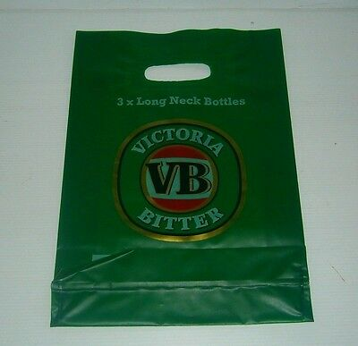 VB Victoria Bitter Beer new long neck stubby bottle plastic shopping carry bag