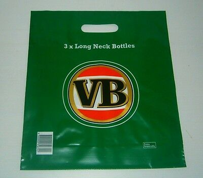VB Victoria Bitter Beer new L long neck stubby bottle plastic shopping carry bag