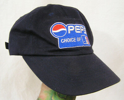 Vtg Pepsi Cola Snap Back Ball Cap