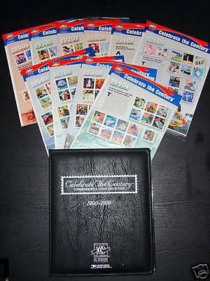 Celebrate The Century Complt Set of 10 Mint NH Sheets #3182 - 3191 + Free Binder