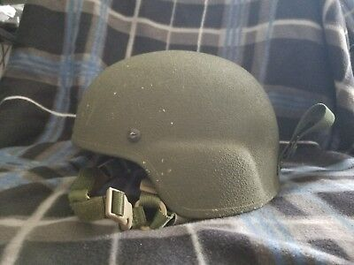 Gentex Corporation TBH II Tactical Ballistic Helmet US Military ACH Type w Pads