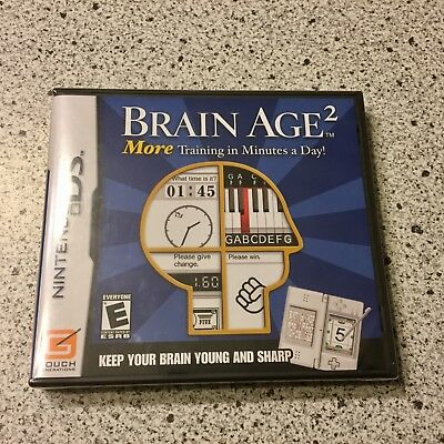 Brain Age 2  Nintendo DS Game Cartridge Factory Sealed Rated E New