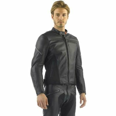 Dainese Cage Pelle Leather Jacket Road Sport Touring (Black)