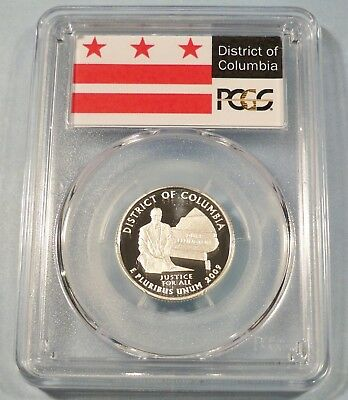 2009-S 25c SILVER PCGS PR70DCAM DISTRICT OF COLUMBIA QUARTER PROOF DEEP CAMEO DC
