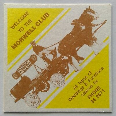 Welcome To The Morwell Club Carlton Draught Clydesdale 342671 Coaster (B330-11)