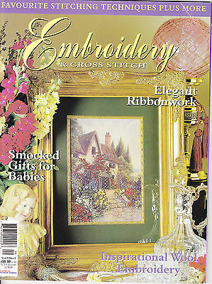 Embroidery & Cross Stitch Vol 9 No 3 - smocking ribbonwork wool embroidery