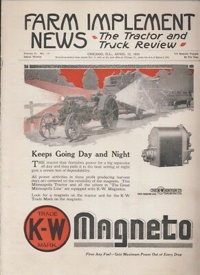 April 15, 1920 FARM IMPLEMENT NEWS Magazine Truck & Tractor Review