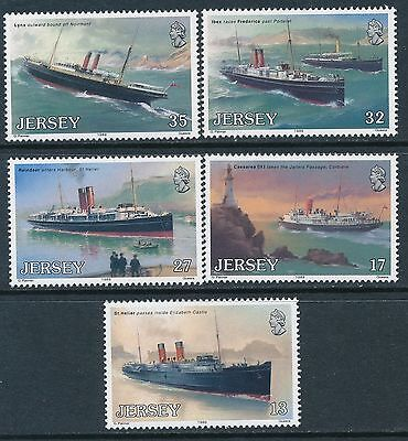 1989 Jersey Steamships Set Of 5 Fine Mint Mnh/muh