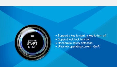 Car LED Push Button Keyless Start Entry Alarm RFID Lock Engine Starter Ignition