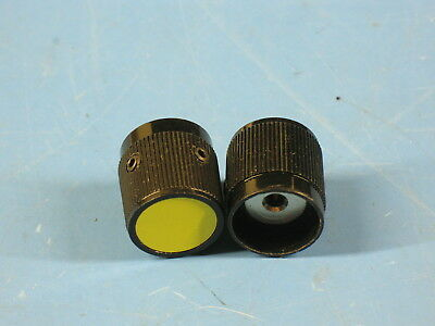 "2 High Quality ALCO Solid Aluminum Knobs for Radios & Equipment .125"" Shafts"