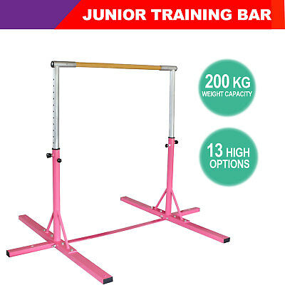 Pink Indoor Gymnastics Horizontal Bar Pull Up Sports Gym Strength Train Exercise