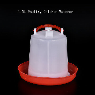 1.5L Feeder Or Drinker Chicken / Poultry / Duck/Hen Food & Water Accesories STUK