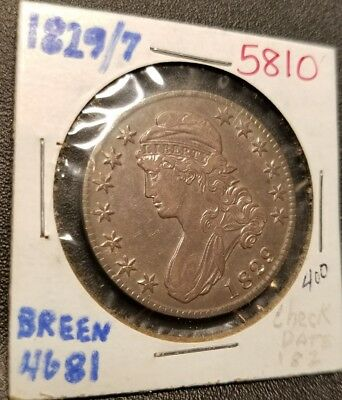 1829/7 Capped Bust Half Dollar 5810