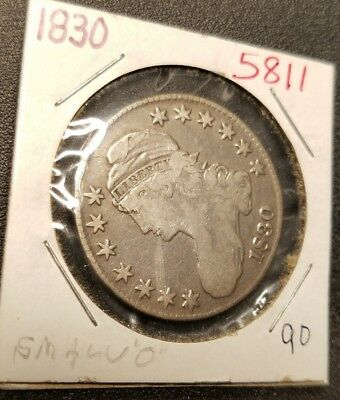 1830 Capped Bust Half Dollar 5811