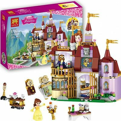 Cute  Kids New Gift  Beauty and the Beast Belle Princess Assemble Castle Toys