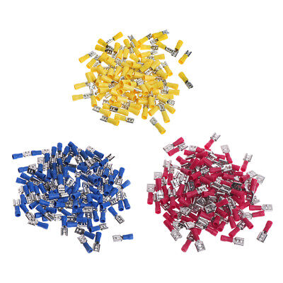 100Pc Insulated Female Terminals Connector Crimp Electrical Terminal AWG 12-10
