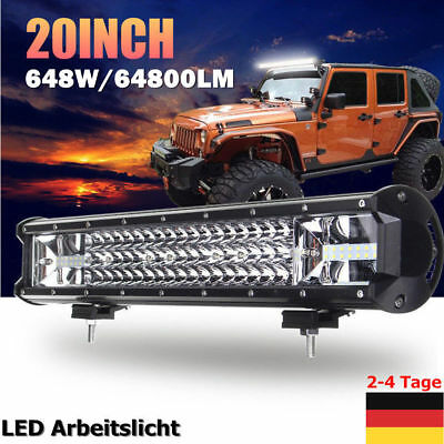 20'' 648W Rampe Led balken Offroad Lichter Scheinwerfer SUV LKW Roof Light Bar
