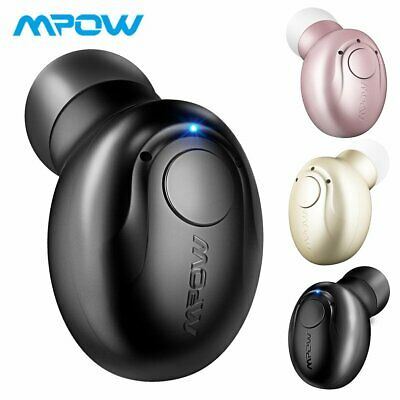 Mpow Bluetooth Headphone Wireless Mini Invisible Earpiece In-ear Earbud with Mic