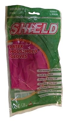 Shield GR01 Latex Household Gloves Food Safe Durable Medium Large Medium Large