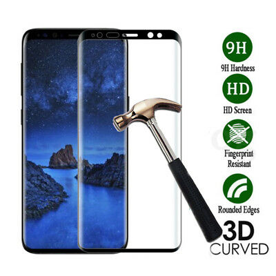 3D Tempered Glass Film Full Cover Screen Protector for Samsung Galaxy S9 A8 Plus