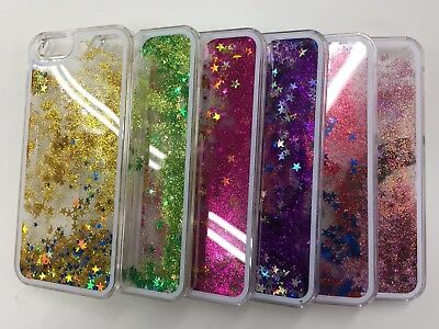 Water Liquid gliter star Blink Sparkly Back Case For iPhone 4g, 4s ,5g 5s,and 5c