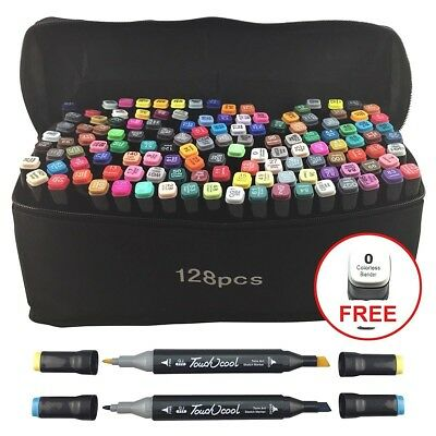 Touch Markers Colour Set Twin Tip Graphic Art Set Sketch Broad Fine 48 80 128