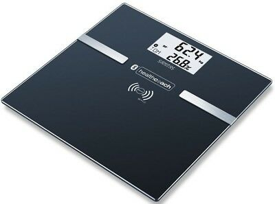 Sanitas Fitness Bluetooth Personal Scale Black Measurement Watch SBF70 Glass