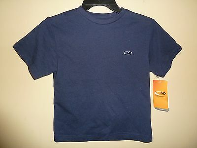 NEW! CHAMPION Duo Dry Boys XS NAVY Short Sleeve Shirt 60% Cotton, 40% Polyester