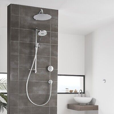 Aqualisa Quartz Digital Shower Dual Concealed Chrome Drencher QZD.A2.BV.DVFW.14