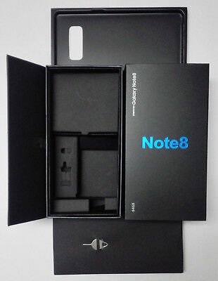 Empty Box Only Retail Packing With Factory Film Seal Wrap For Samsung Note 8