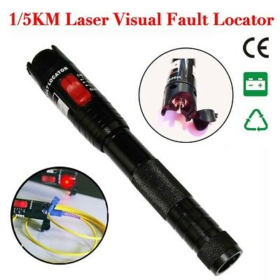 Fiber Optic Laser Visual Fault Locator 1mW 1/5km Cable Tester Test Equipment GA