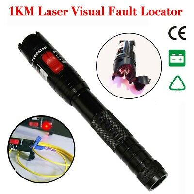 1KM Laser Visual Fault Locator Fiber Optic Cable Tester Test Equipment Tool GA