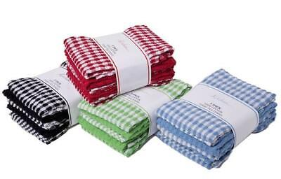 3 Pack Mono Check Tea Towels 100% Cotton Terry Towel Large Size Super Absorbent