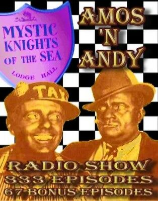 Amos and Andy Radio Show - 400 Episodes - MP3 Format - 1930 - CD