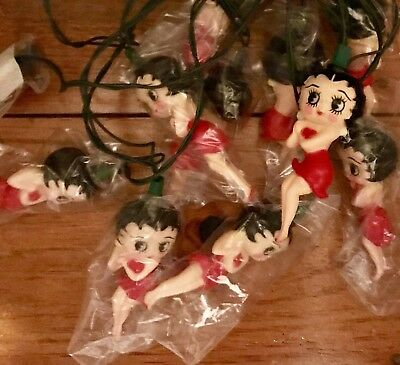 Betty Boop String OF Lights vintage pop culture 90s Christmas LIGHTS Party Lites